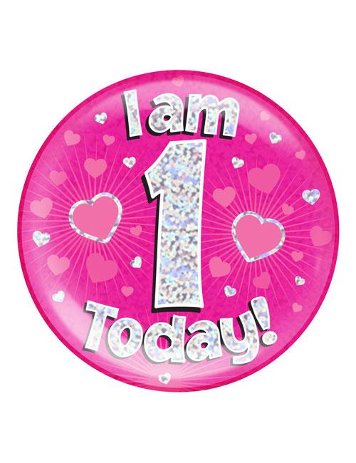 I-am-1-Badge-Pink