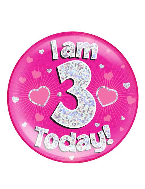 I-am-3-Badge-Pink