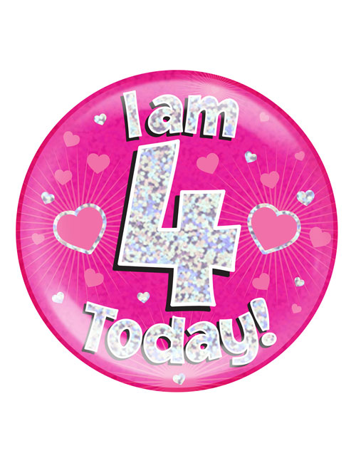 I-am-4-Badge-Pink