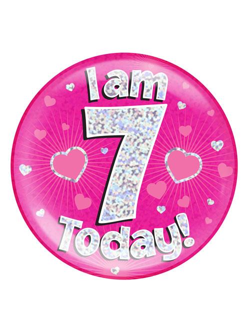 I-am-7-Badge-Pink
