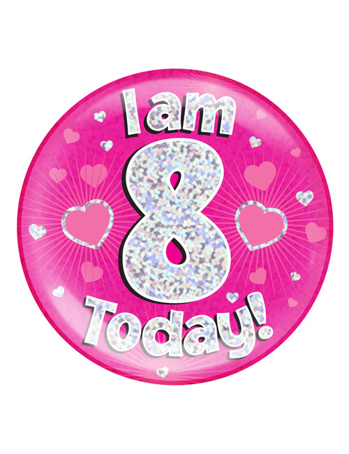 I-am-8-Badge-Pink