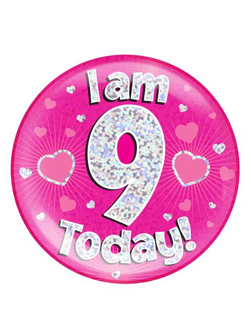 I-am-9-Badge-Pink
