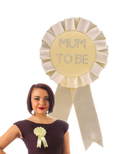 Mum-to-Be-Rosette-Yellow