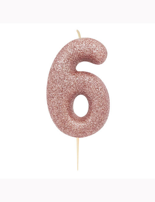 Rose Gold Glitter Candle 6
