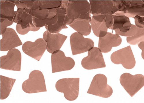 Confetti Cannon Rose Gold Hearts 60cm