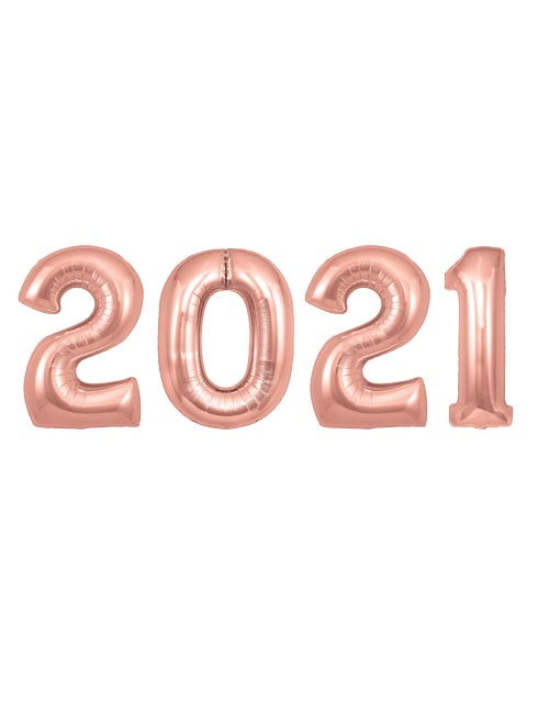 2021 Numbers Rose Gold