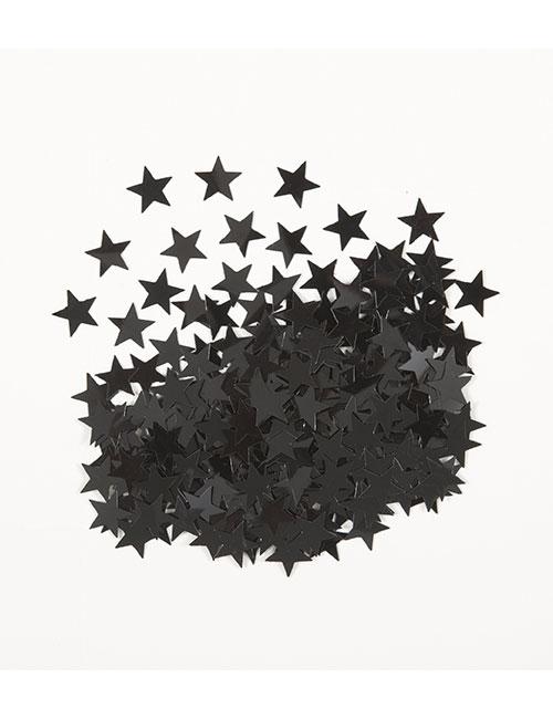 Black Star Confetti