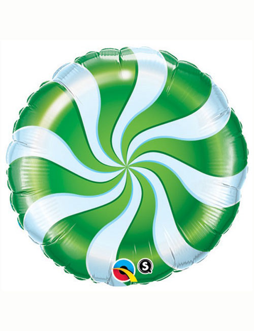 Candy Swirl Green Balloon