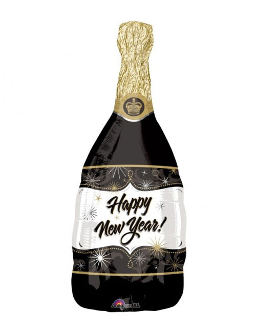Happy New Year Champagne Bottle