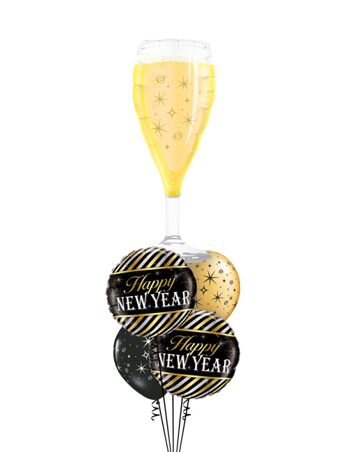 New Year Champagne Glass