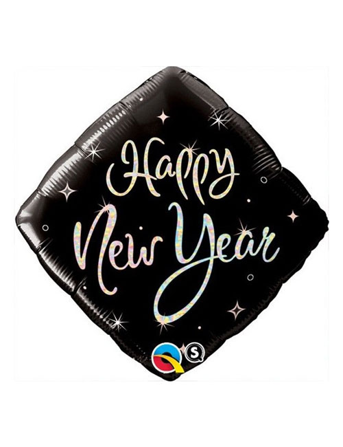 Happy New Year Diamond Balloon
