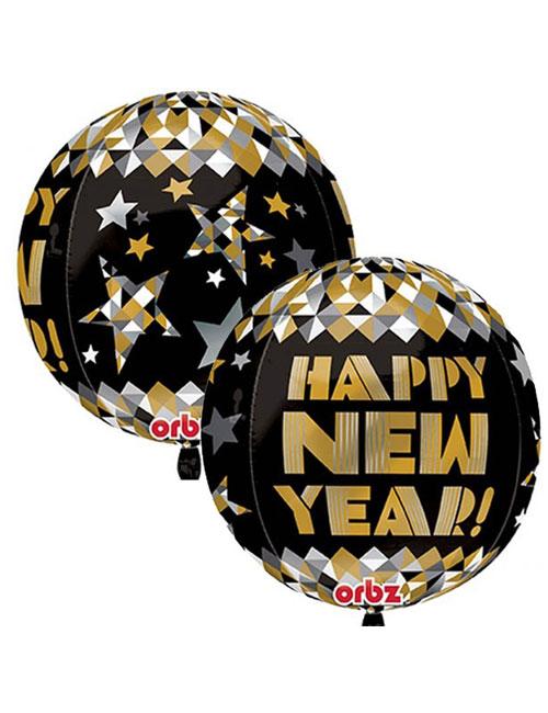 Gold Pattern Happy New Year Orbz
