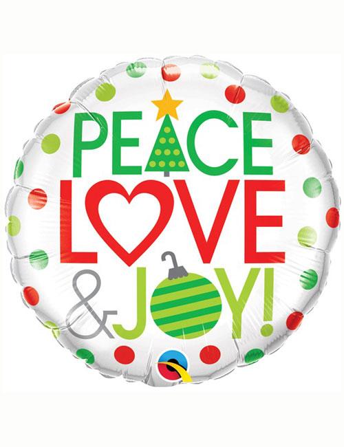 Peace Love Joy Balloon