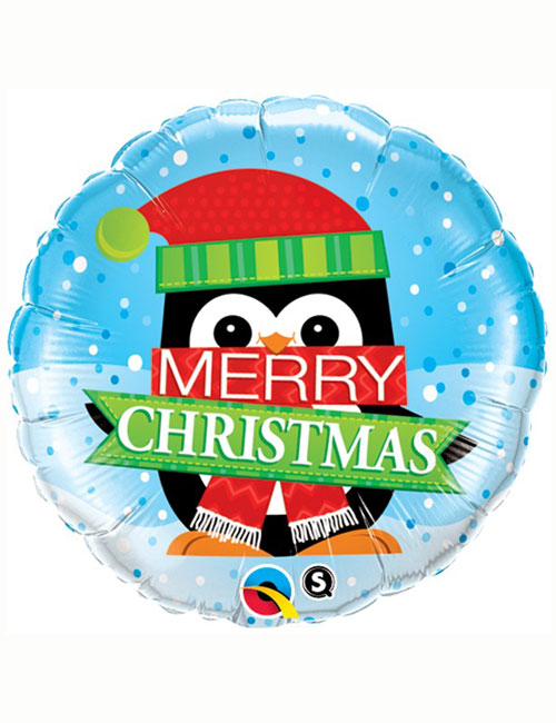 Penguin Merry Christmas Balloon