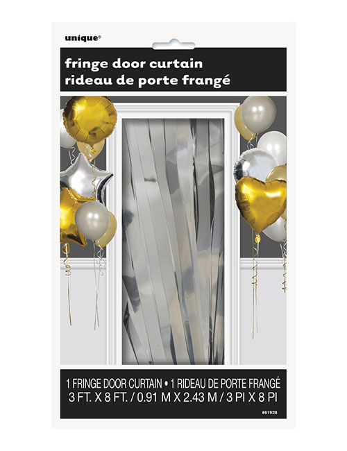 Silver Door Curtain