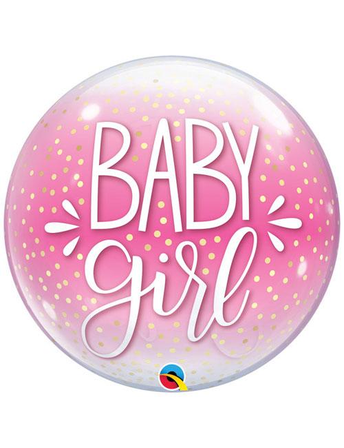 Baby Girl Bubble Balloon