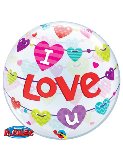 Banners I Love You Bubble Balloon