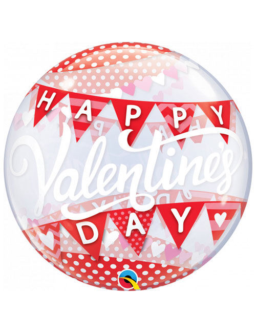 Banners Valentines Day Bubble Balloon