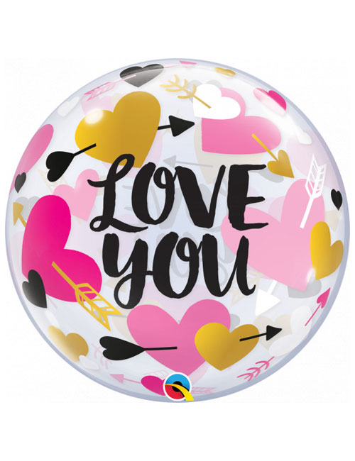 Love You Hearts Bubble Balloon