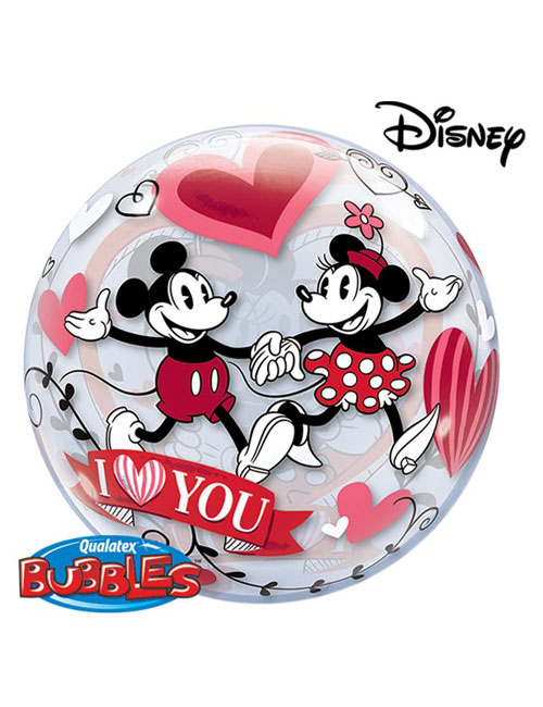 "22"" Bubble Mickey and Minnie I Love You Balloon"