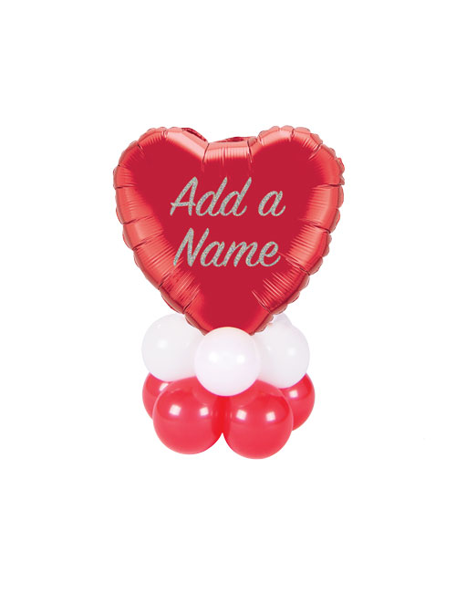 Personalised Heart Stack Balloon