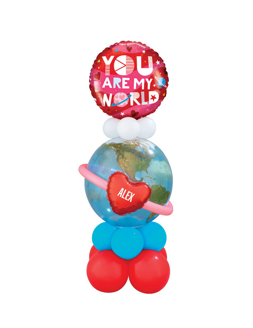 You are my world bubble display