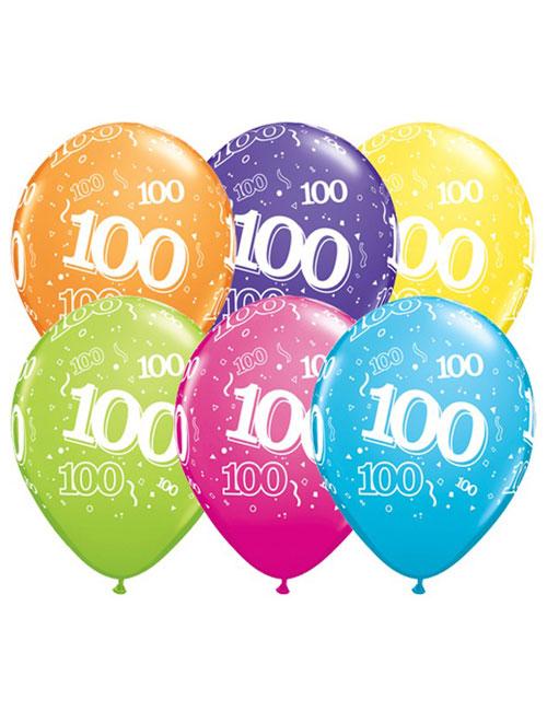 11 inch Latex Age 100 Balloon