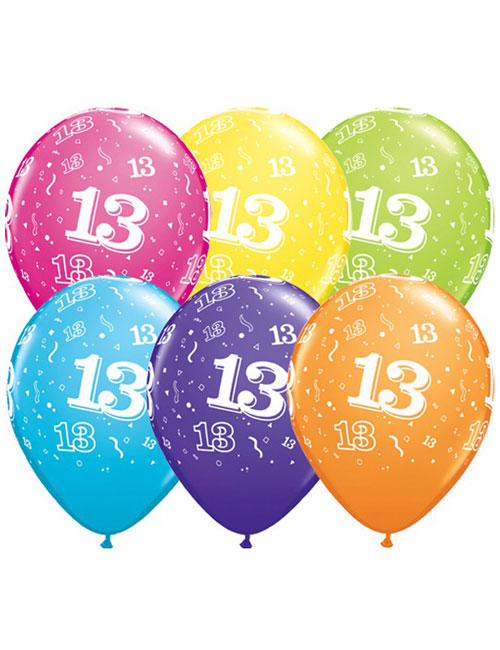 11 inch Latex Age 13 Balloon