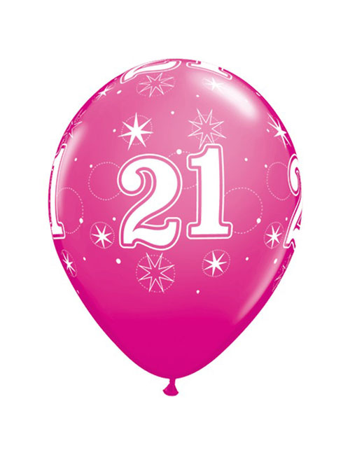 11 inch Latex Age21 Pink Balloon