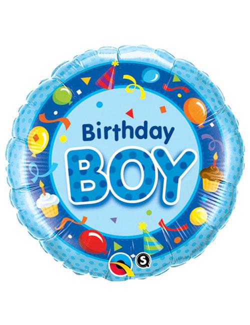 18 inch Birthday Boy Blue Foil Balloon