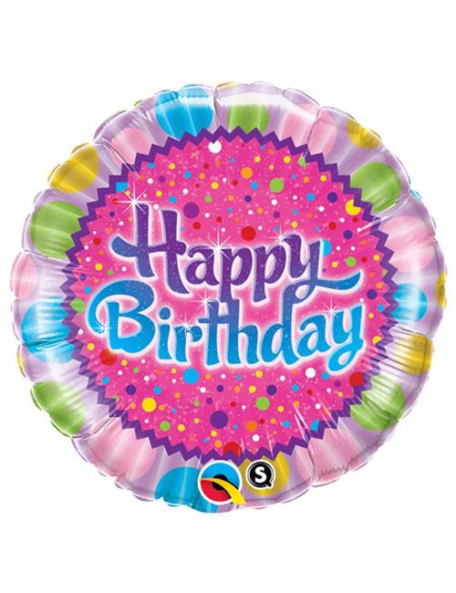 18 inch Birthday Sprinkles Balloon