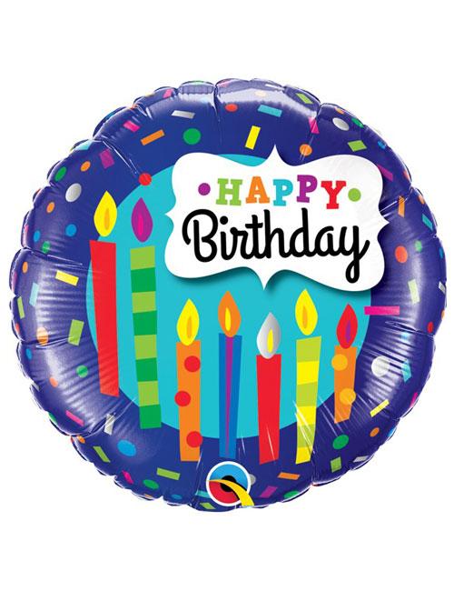 18 inch Candles & Confetti Birthday
