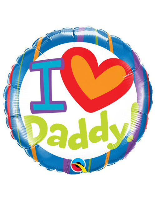 18 inch I Heart You Daddy Balloon
