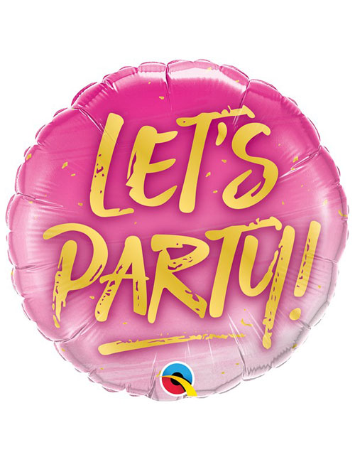 18 inch Lets Party Balloon