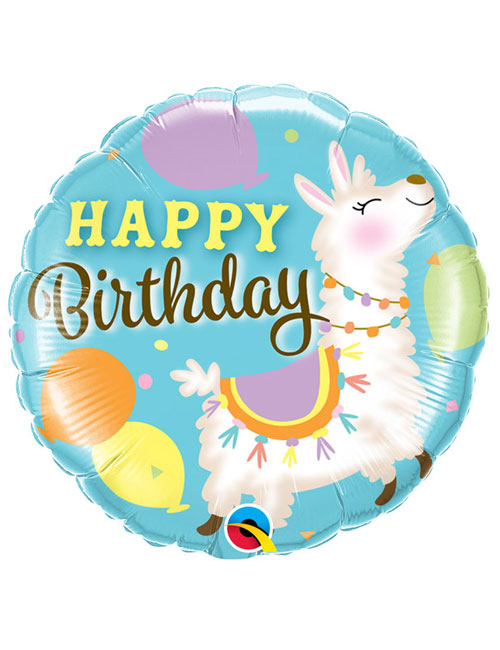 18 inch Llama Birthday Balloon