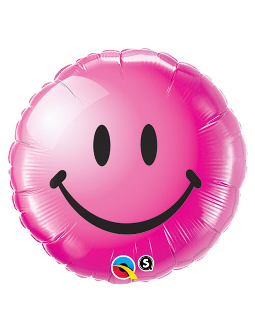 18 inch Smiley Wild Berry Face Balloon