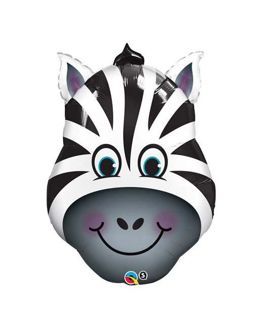 32 inch Zany Zebra Shape Balloon