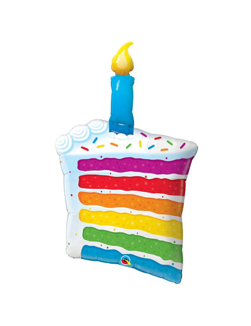 42 inch Rainbow Cake Candles Balloon