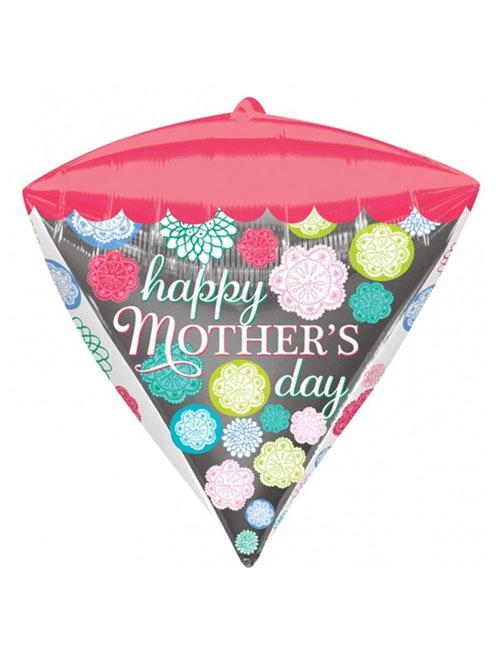 Happy Mothers Day Floral Diamondz Balloon