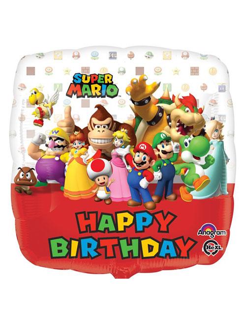 Happy Birthday Super Mario Foil Balloon