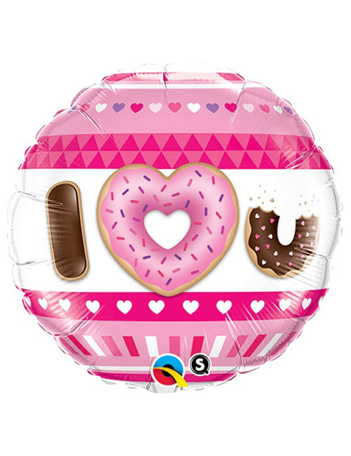 I Love You Donuts Balloon