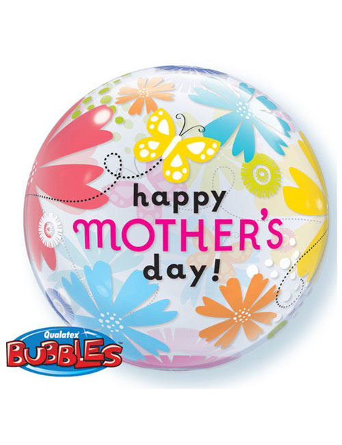 Mothers Day Floral Butterfly Bubble Balloon