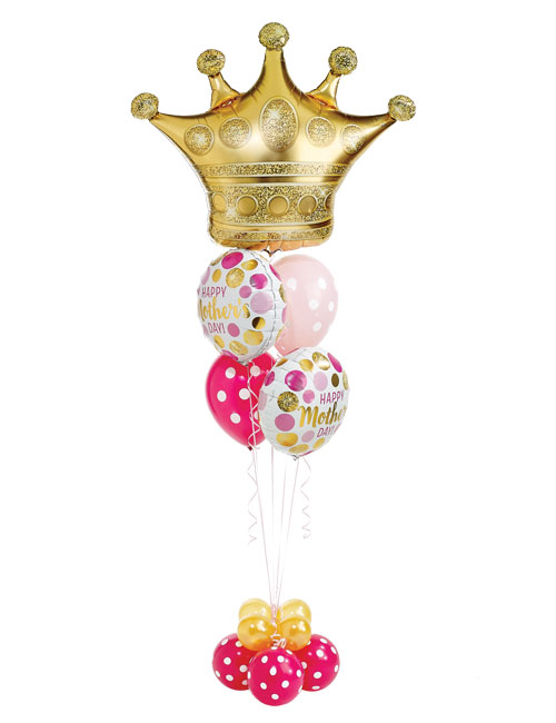 Mothers Day Pink and Gold Super Staggered Balloon Bouquet
