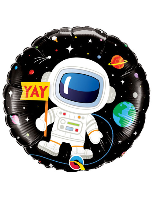 18 inch Astronaut Happy Birthday Balloon