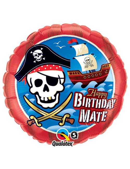 18 inch Birthday Mate Pirate Ship Balloon