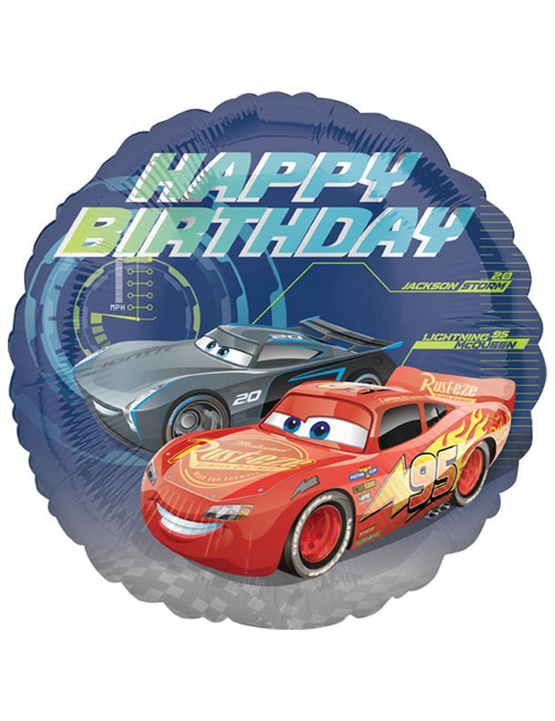 18 inch Cars 3 HAppy Birthday Balloon