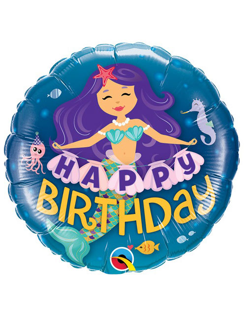 18 inch Mermaid Happy Birthday Balloon