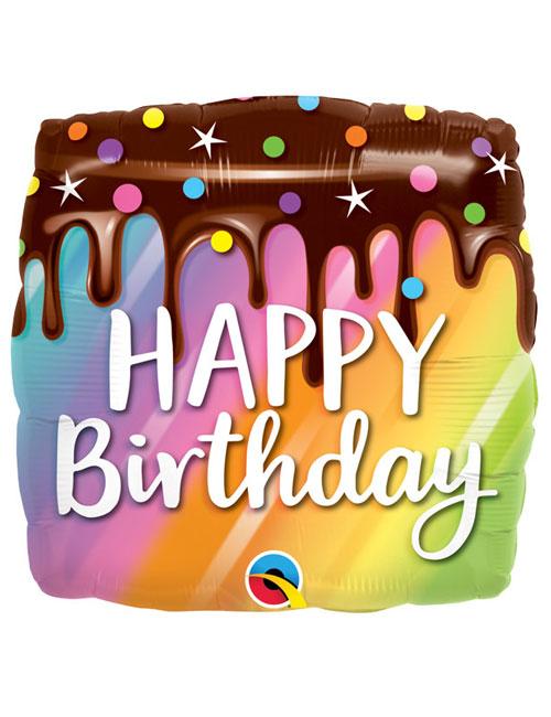 18 inch Rainbow Drip Cake Balloon