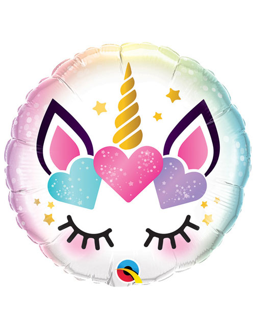 18 inch Unicorn Eyelashes Balloon