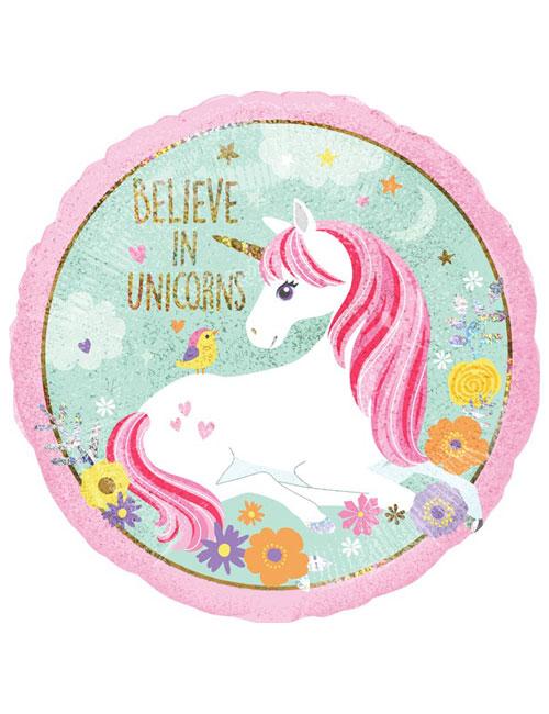 18 inch Believe in Unicorns Balloon